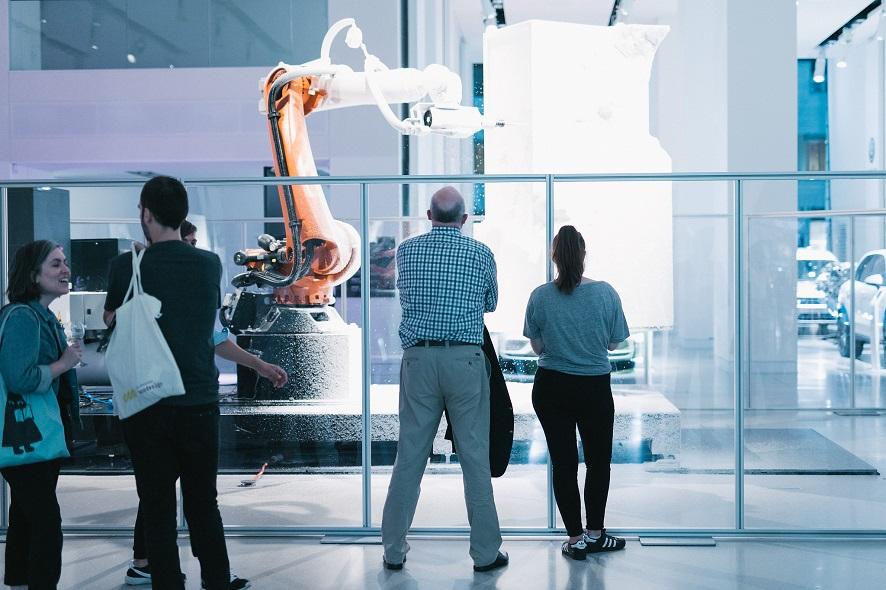 Sculpture Factory DRIVE Volkswagen Berlin Ars Electronica Export