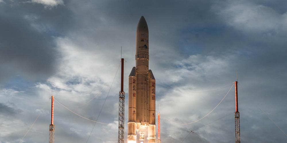 Start einer Ariane-5 Rakete