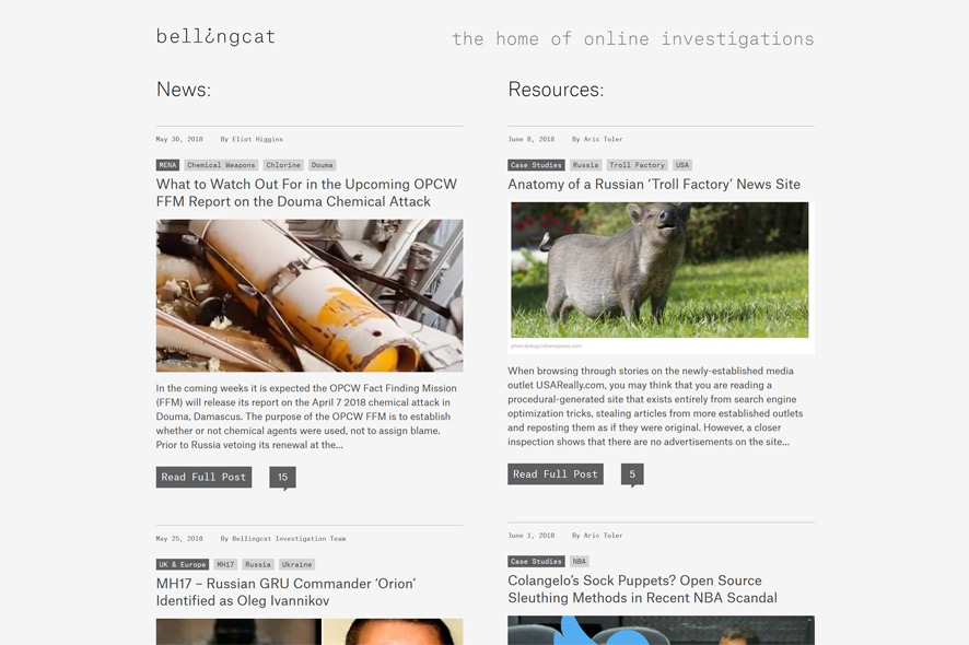 Bellingcat: Looking for Traces in the Digital Environment